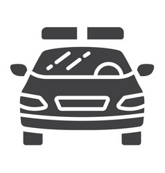 police car glyph icon transport and automobile vector image
