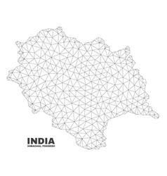 Polygonal mesh himachal pradesh state map vector