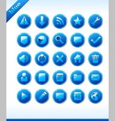 popular web icons in blue vector image