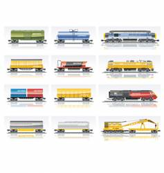 railroad transportation set vector image