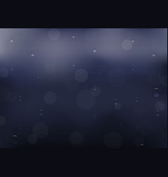 rain drop on window template for your design vector image