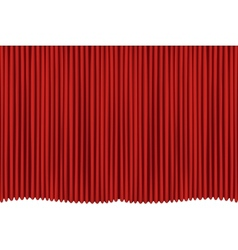 red drapes vector image