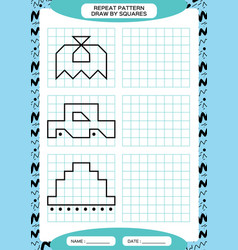 Repeat pattern tracing lines activity special vector