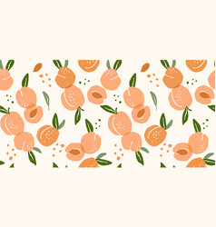 seamless pattern with peaches modern vector image