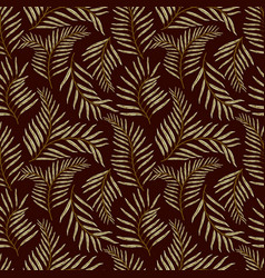 seamless pattern with tropical leaves seamless vector image