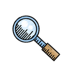 search loupe find internet sketch vector image