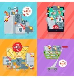 Set of Banners Household Appliances E-commerce vector