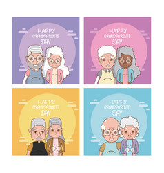 set of grandparents day cards vector image