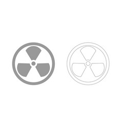 Sign radioactive the grey set icon vector