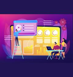 Social media dashboard concept vector
