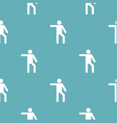 Stick figure stickman pattern seamless vector