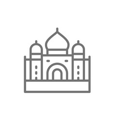 taj mahal landmark agra india line icon vector image