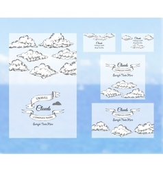 Template corporate identity with clouds vector image