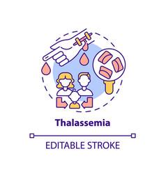 Thalassemia concept icon vector