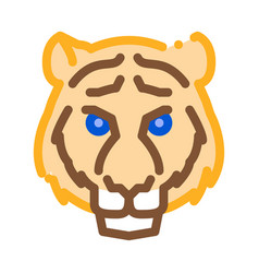 tiger animal icon outline vector image