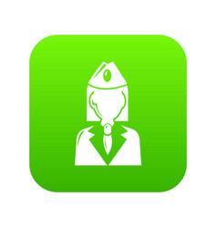 train conductor icon green vector image