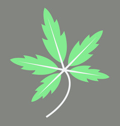 Tree leaf in flat style vector