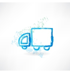 trucking grunge icon vector image