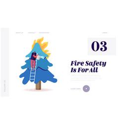 Volunteer fire fighter extreme profession website vector