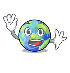 Waving earth above the sky the mascot vector