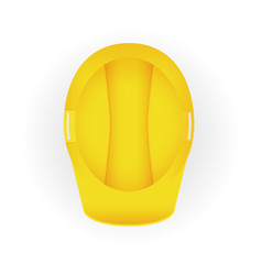 yellow safety construction helmet eps10 vector image