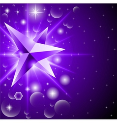 abstract background with glowing crystal among vector image vector image