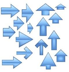 Blue Glass Arrow vector image
