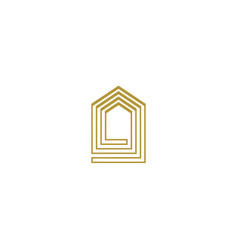 luxury house logo icon design template vector image