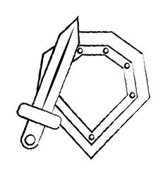 shield war icon image vector image