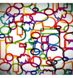 speech bubbles pappern vector image