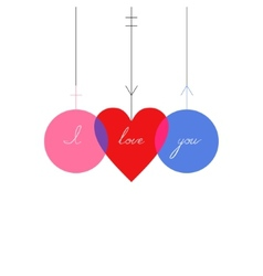 Background love vector image