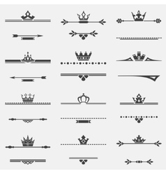 Collection of twelve vintage frames vector image vector image