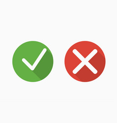 confirm and deny icons with shadows vector image
