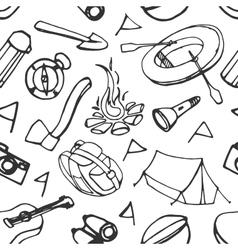 Doodle pattern adventure vector image