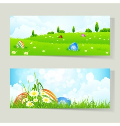 Easter Cards with Eggs vector image vector image