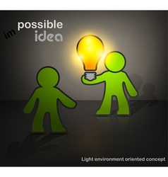 Man with bulb vector image