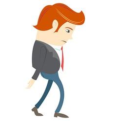 Sad Office man vector image