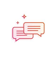 Speech bubbles icon gradient line vector