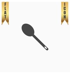 spoon flat icon vector image vector image