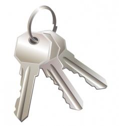 three keys vector image vector image