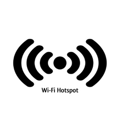 wifi hotspot vector image