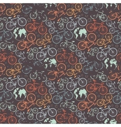 Bicycle grunge pattern vector image