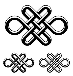 endless celtic knot black white symbol vector image vector image