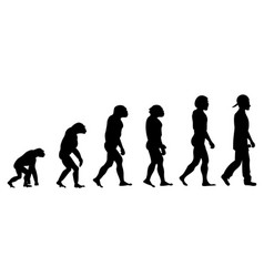 Evolution rapper silhouette on white background vector