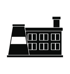 Factory building black simple icon vector image