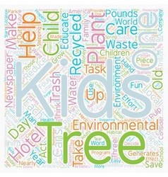 Kids And Trees Grow With The Environmental Three R vector image vector image