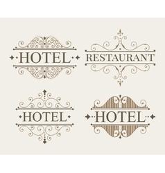 Luxury logo and monogram template set vector