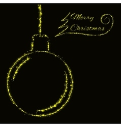 Merry Christmas lights card vector image vector image