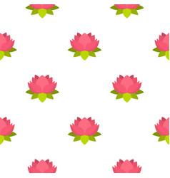 pink lotus flower pattern seamless vector image