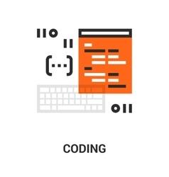 program coding icon vector image